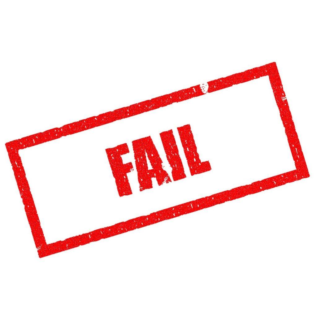fail, lose, failing